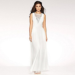 Quiz - Ruby white chiffon diamante bridal dress