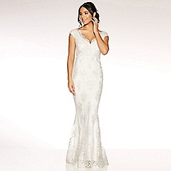 Quiz - Clara white lace fishtail bridal dress
