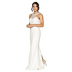 Quiz - Amelia white embellished bridal dress