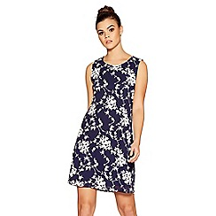 Quiz - Navy flower print tunic dress