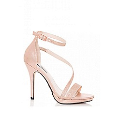 Quiz - Gabby´s rose gold shimmer strap heel sandals