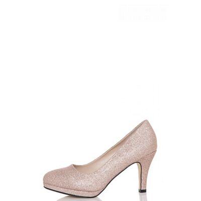 967903f4c quiz---rose-gold-glitter-midi-heels by quiz