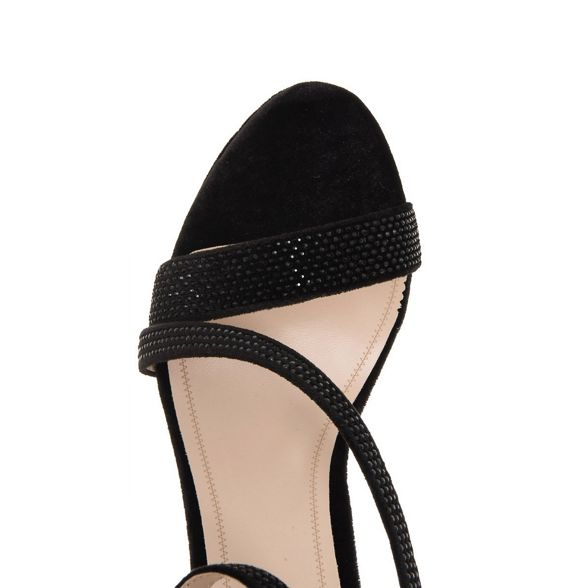 velvet Quiz diamante Black sandals strap aZxB1