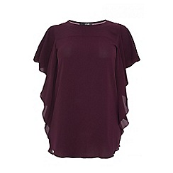 Quiz - Curve berry crepe waterfall top