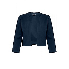 Quiz - Curve navy 3/4 sleeves panel jacket