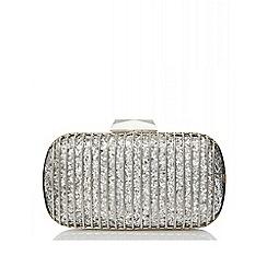 Quiz - Silver glitter cage box bag