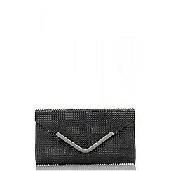 Quiz - Black diamante resin clutch bag