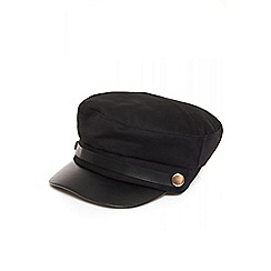 Quiz - Black button military cap