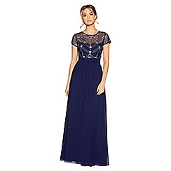 Quiz - Navy and silver embellished maxi dress