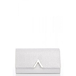 Quiz - Silver glitter metal trim bag