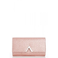 Quiz - Rose glitter metal trim bag