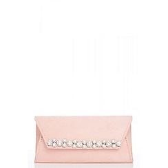 Quiz - Pink diamante and pearl trim bag