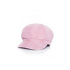Quiz - Pink cord baker boy hat