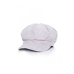 Quiz - Grey cord baker boy hat
