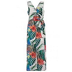 Quiz - Tropical print culotte jumpsuit