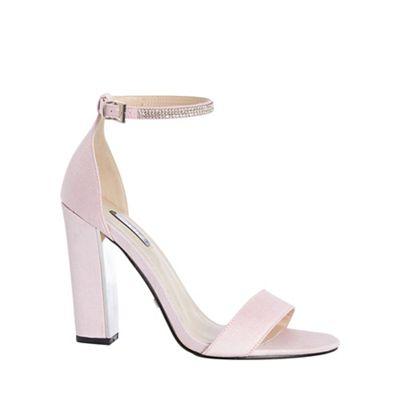 Quiz - Pink diamante ankle sandals