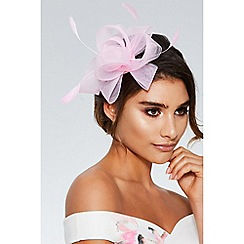 Quiz - Pink twist bow fascinator