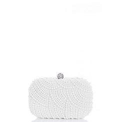Quiz - White pearl box bag