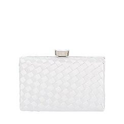 Quiz - White satin box bag