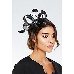Quiz - Black loop jewel fascinator