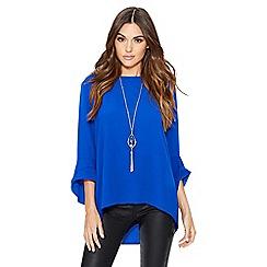 Quiz - Royal blue necklace top