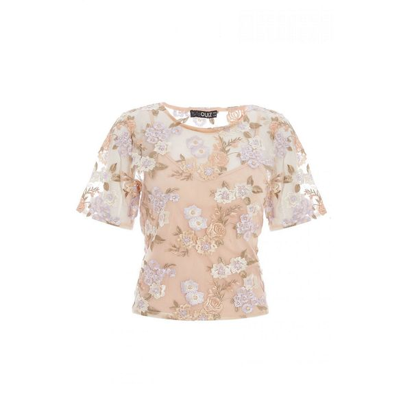 top lilac and Quiz Nude embellished floral nHWZa1R