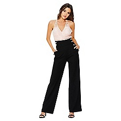 Quiz - Black crepe high waist palazzo trousers