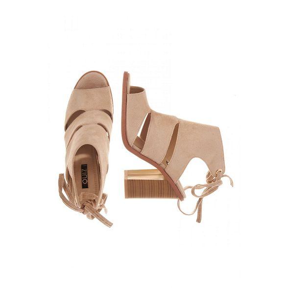lace Nude cut out shoe back Quiz boots tUwqdCdx