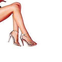 Quiz - Towie rose gold metallic high heels