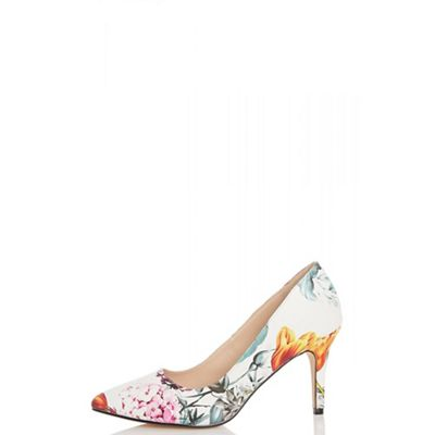 Quiz - Multi colour floral point court shoes