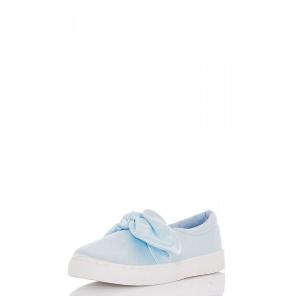 trainers satin slip bow Blue Quiz on front xYZAyw6