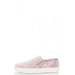Quiz - Pink slip on diamante trainers
