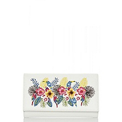 Quiz - White floral embroidered bag