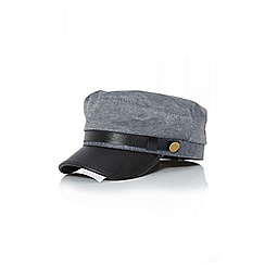 Quiz - Grey military button hat