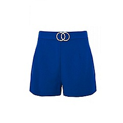 Quiz - Royal blue buckle shorts