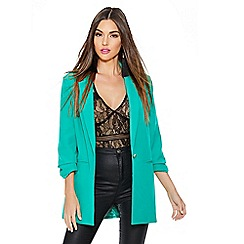 Quiz - Jade green 3/4 button suit jacket