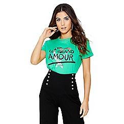 Quiz - Green slogan t-shirt