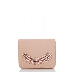 Quiz - Pink jewel trim bag