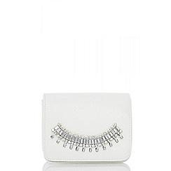 Quiz - White jewel trim bag