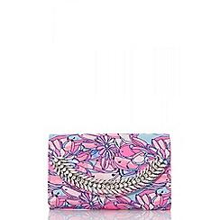 Quiz - Pastel floral diamante bag