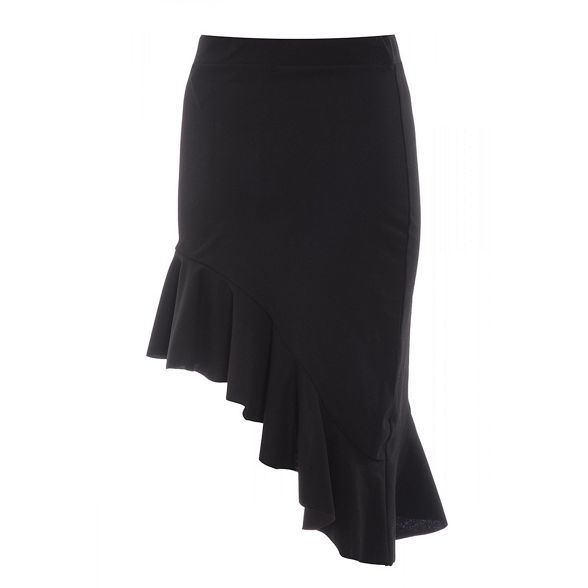 Black skirt high waist asymmetrical Quiz 1qRzv6wR
