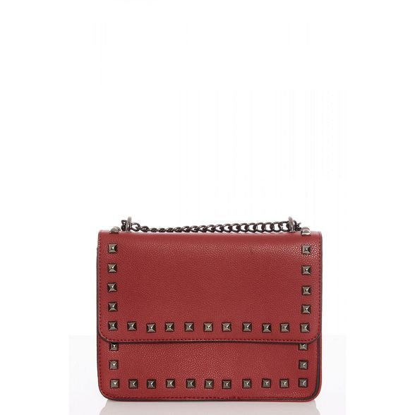 Red Quiz bag over cross stud zxxX7A