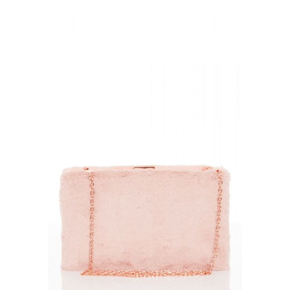 faux box bag Pink fur Quiz BzARqf0cxw