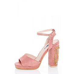 Quiz Light Pink Suede Shoes