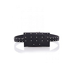 Quiz - Black stud belt bag