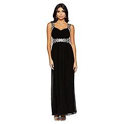 Quiz - Black sweetheart neck maxi dress