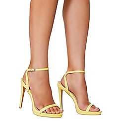 Quiz - Yellow barely there heel sandals
