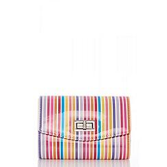 Quiz - Multi stripe lock bag