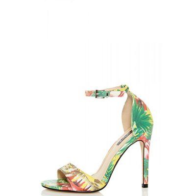Quiz - Multicolour tropical high heel sandals