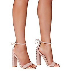 Quiz - Pink faux suede barely there sandals